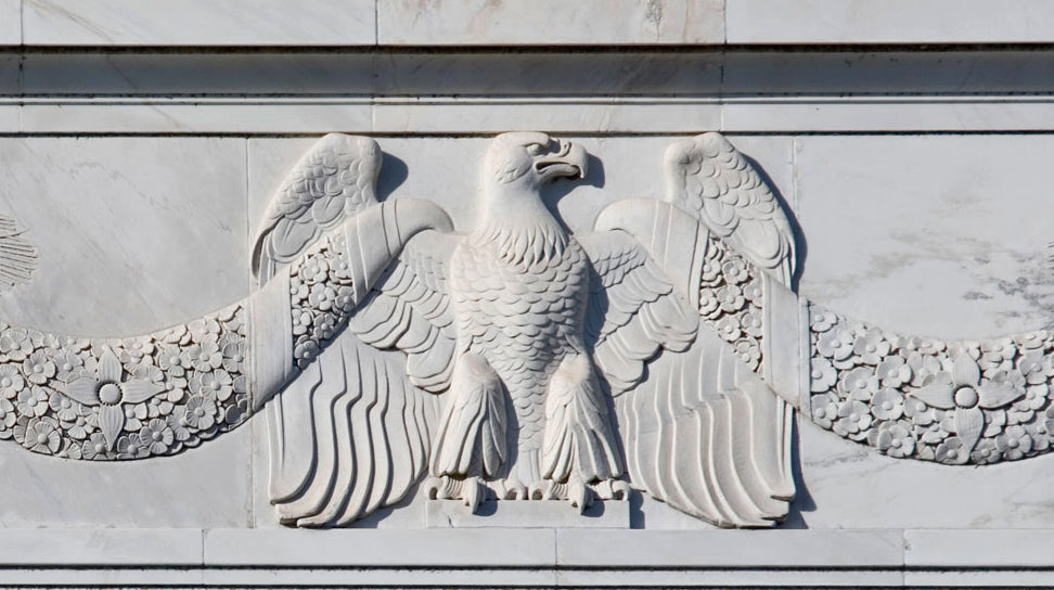 eagle applique with festoons for brockwell incorporated's illustrated glossary of classical architectural terms