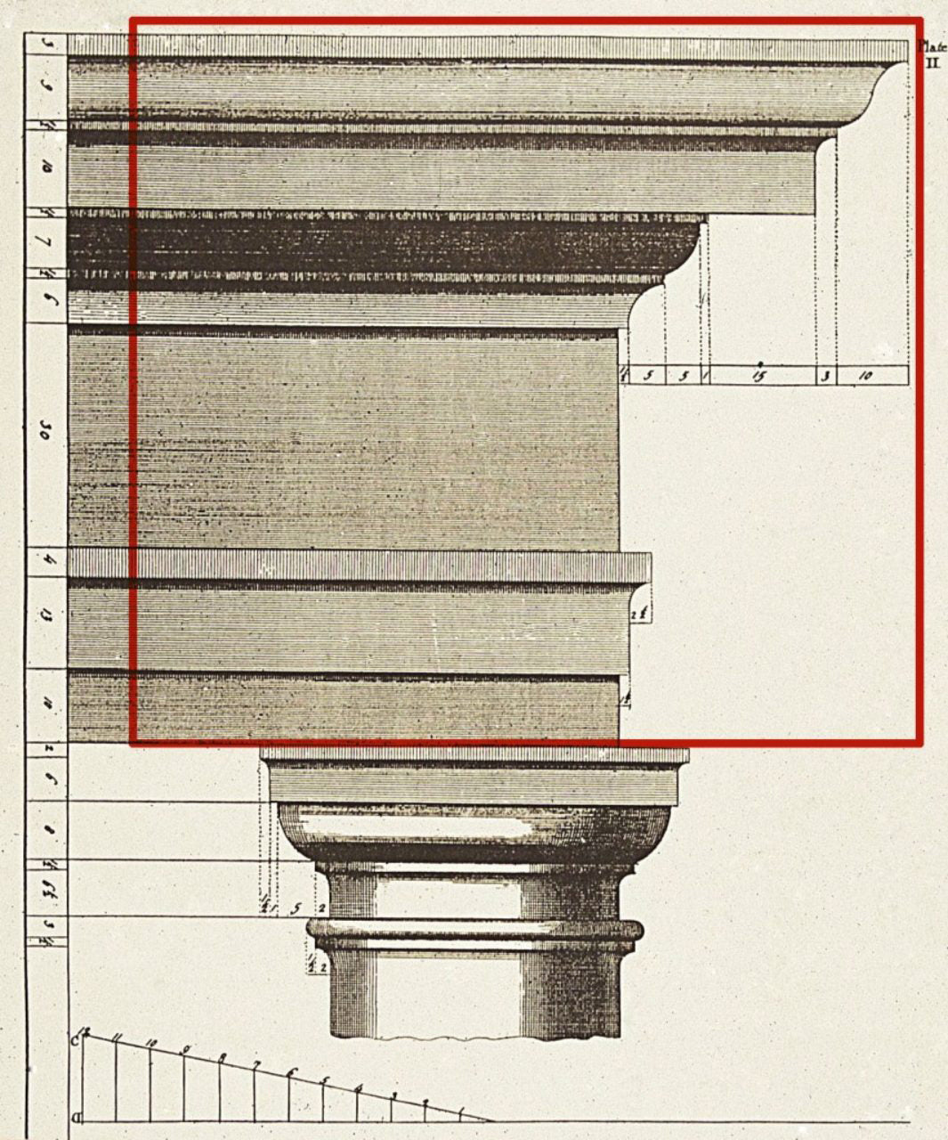 Entablature Illustrated Example - Classical Architectural Glossary by ColumnsDirect.com