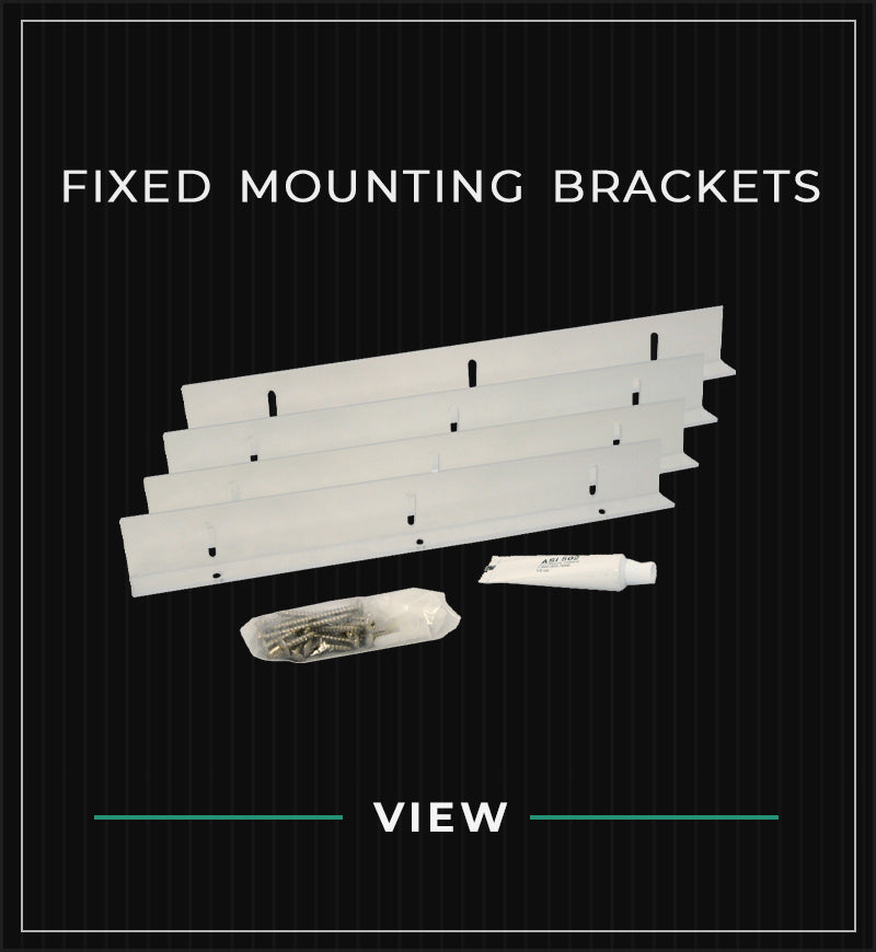 Fixed Mounting Brackets Shutter Hardware for Non Functional Exterior Shutters