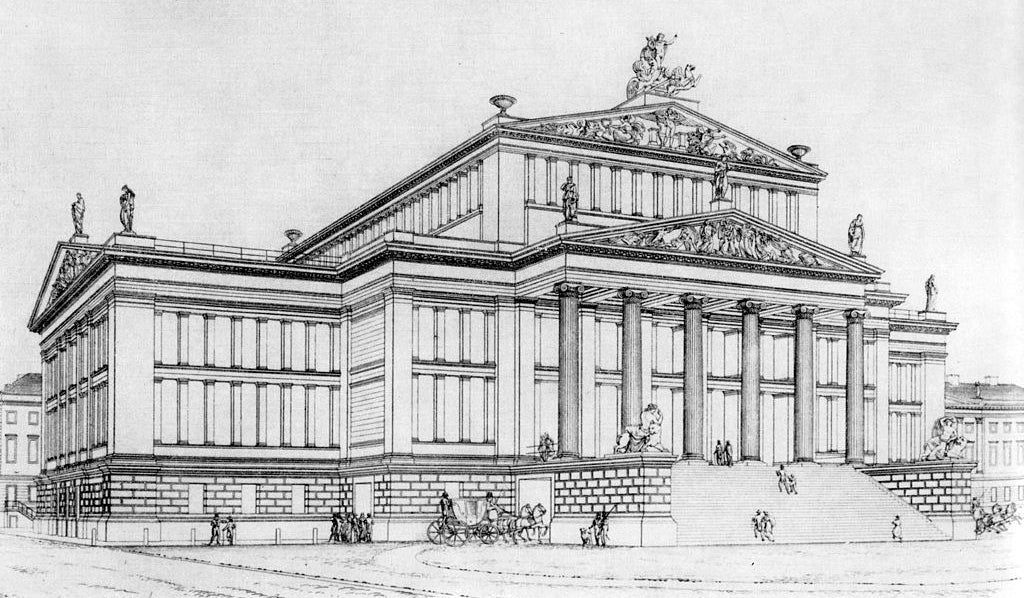 illustrated sketch of a facade for brockwell incorporated's glossary of classical architectural terms