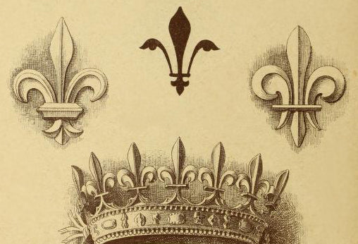 Fleur de Lis Applique Sketch - Illustrated Glossary of Classical Architectural Terms from Brockwell Incorporated