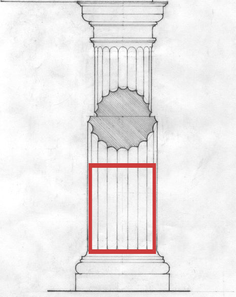 fluted column drawing showing flutes in illustrated glossary of architectural terms from brockwell incorporated