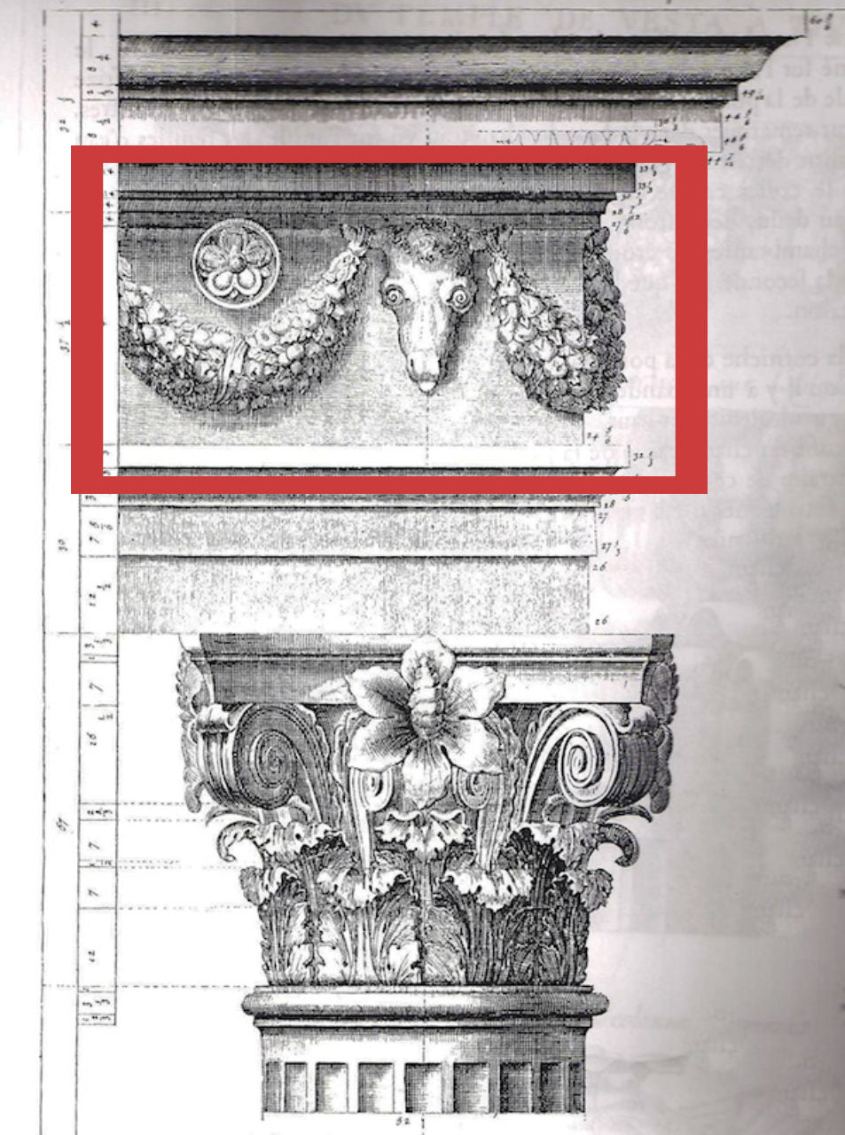 illustrated sketch of the frieze in classical architecture for brockwell incorporated's illustrated glossary