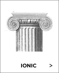 black and white sketch of the ionic order capital from brockwell incorporated