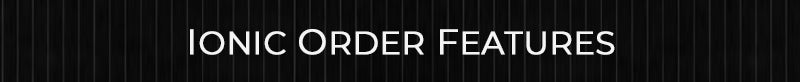 the doric order features header with black background and thin white pinstripes