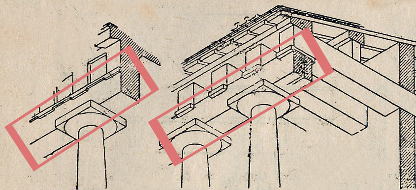 illustrated drawing of a lintel for brockwell incorporated's glossary of architectural terms