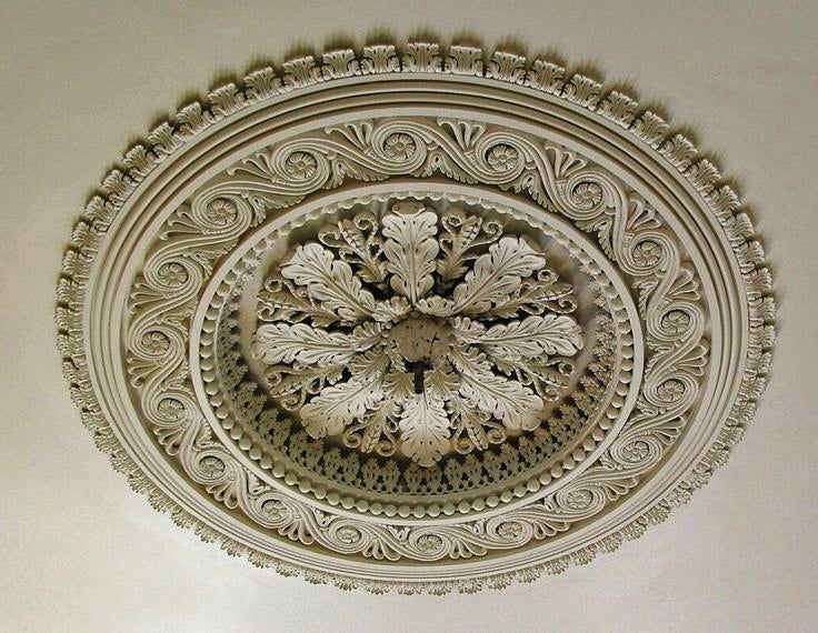 ceiling medallion with acanthus detail for brockwell incorporated's illustrated glossary