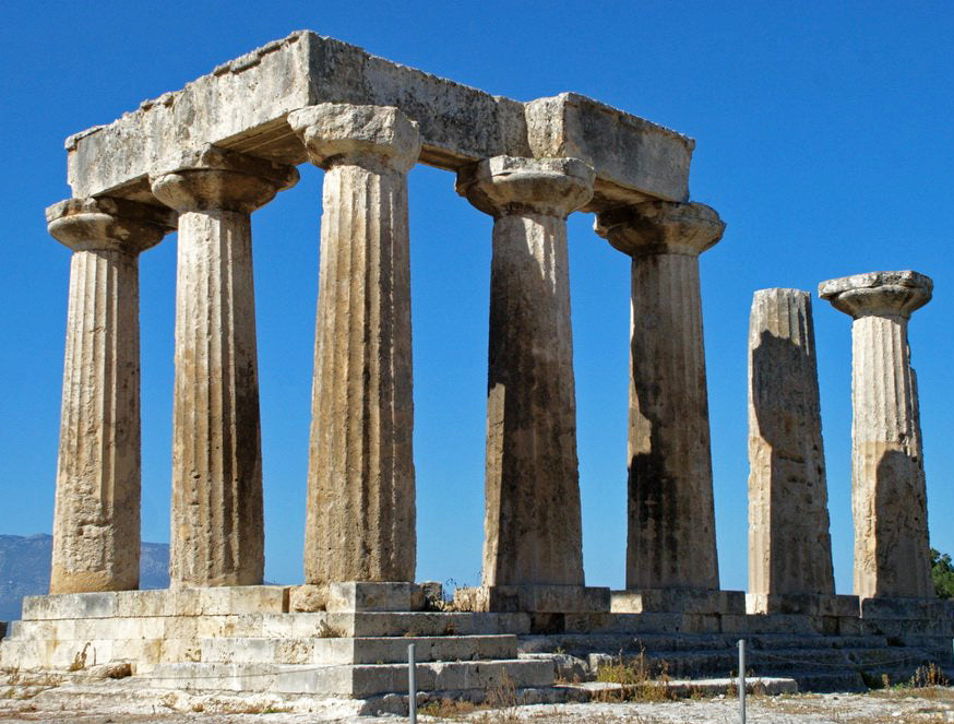 fluted greek doric monolithic columns in greece for the classical architectural glossary on ColumnsDirect.com
