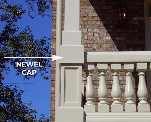 Newel Cap Example - Illustrated Architectural Terms Glossary by ColumnsDirect.com