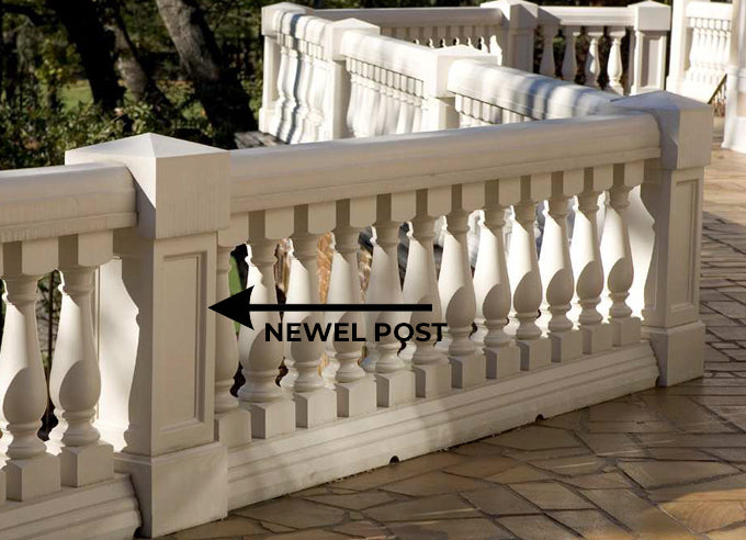 Newel Post Example - Illustrated Glossary by Brockwell Incorporated