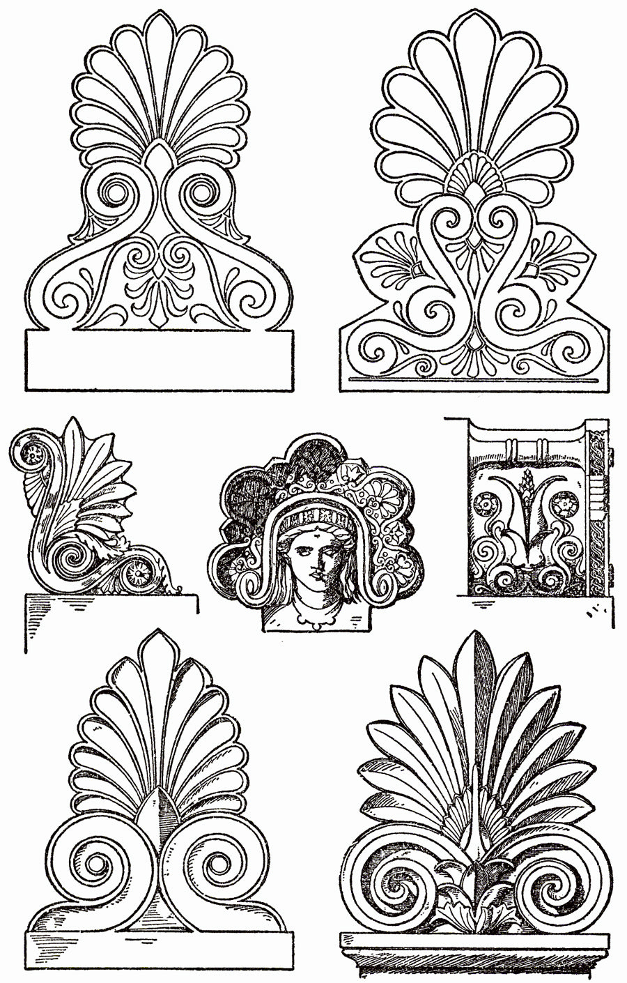 Classical Example & Definition of a Palmette Motif by Brockwell Incorporated