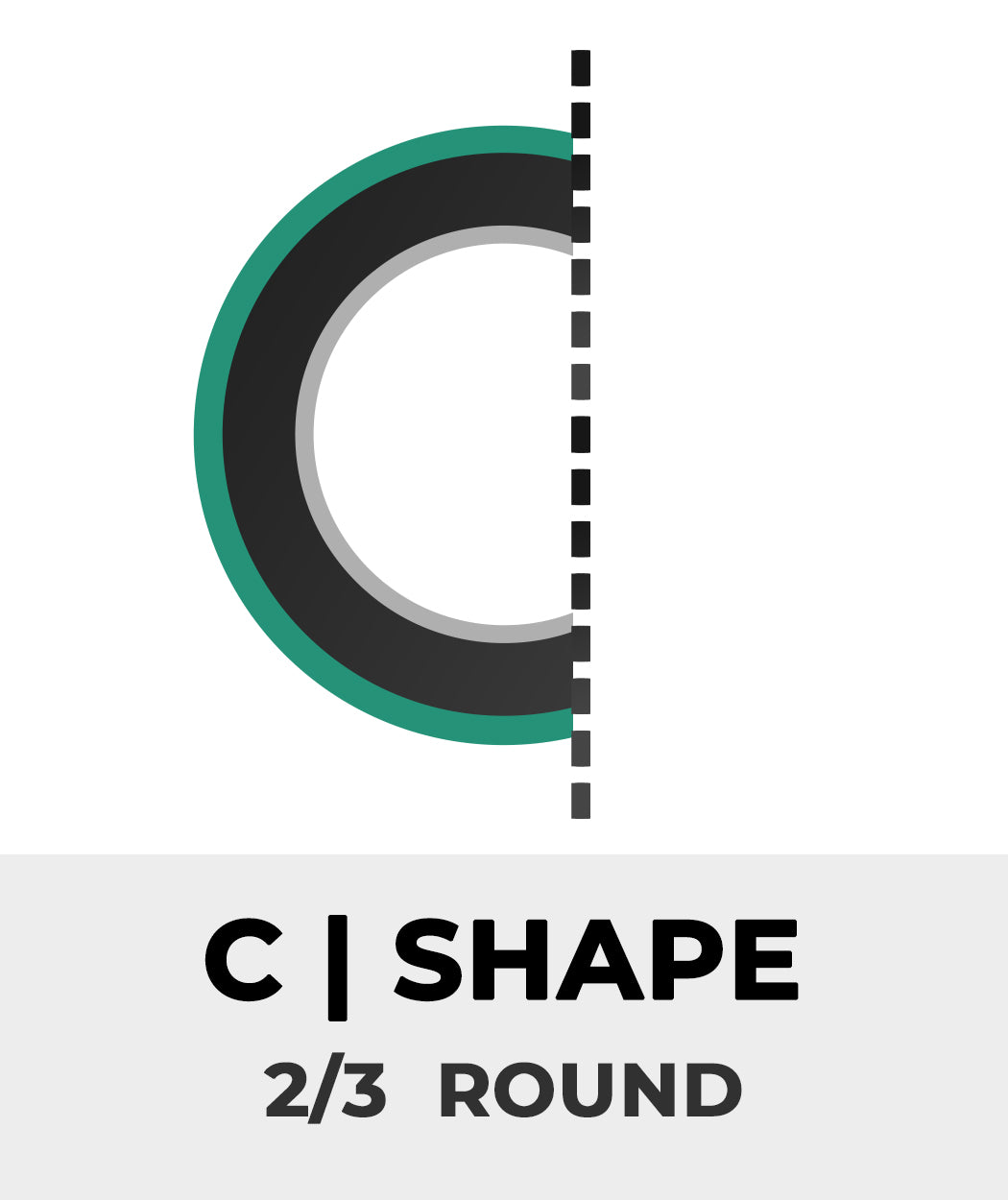 Plan Shape C - 2/3 Round