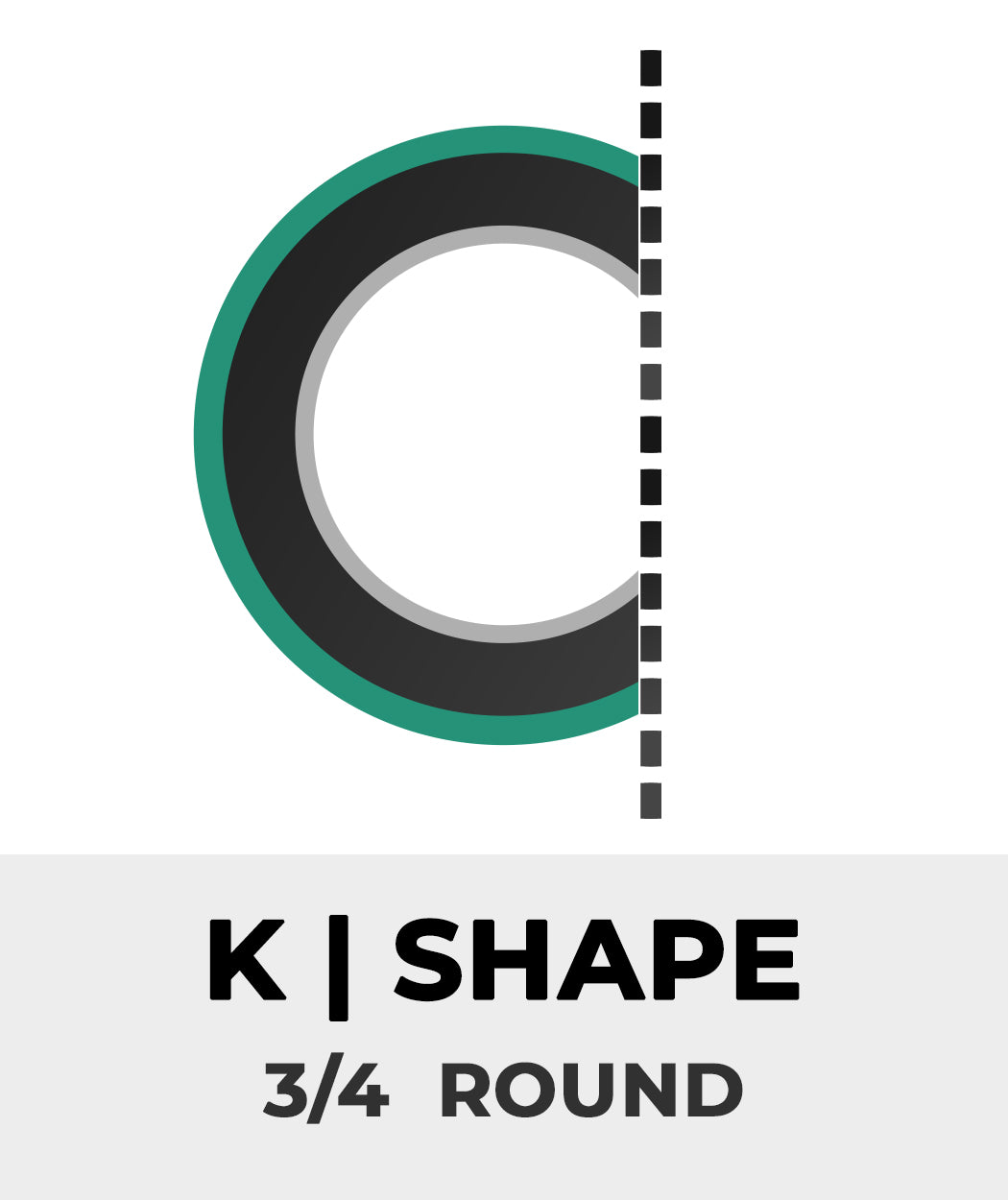 Plan Shape K - 3/4 Round