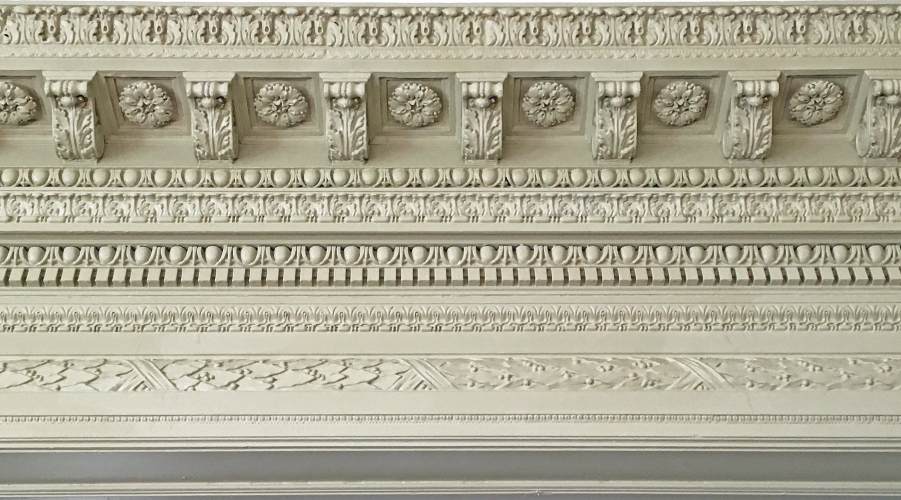 plaster decorative crown molding design example from brockwell incorporated