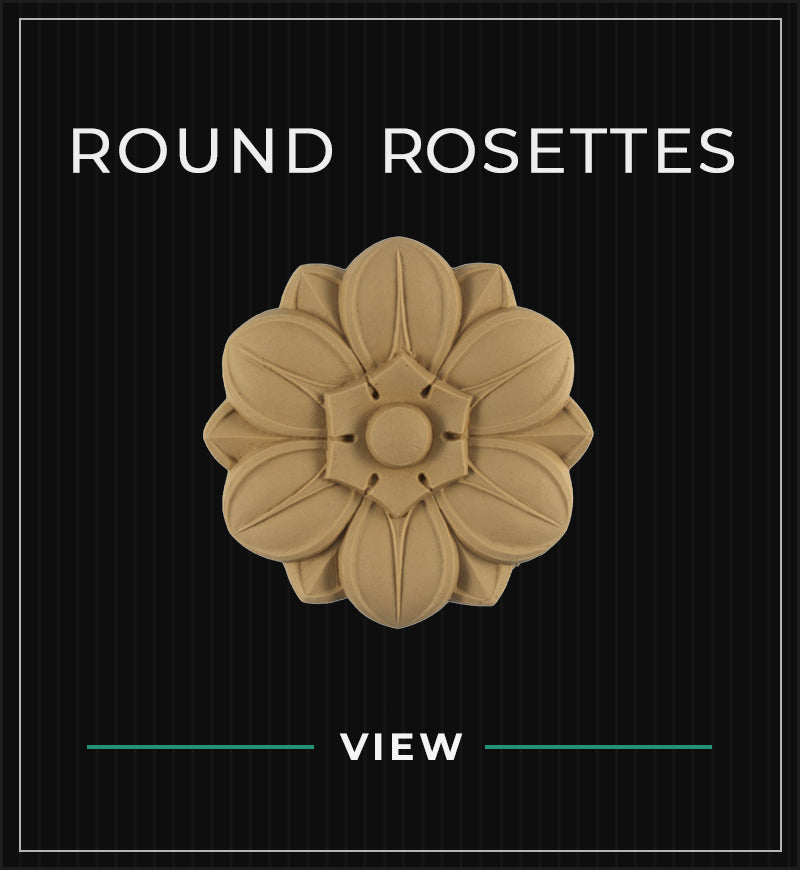 resin (compo) stain grade round rosette designs by brockwell incorporated