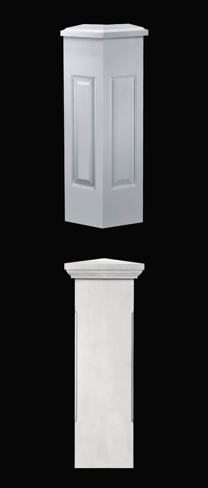 Synthetic Stone Pre-Finished Composite Balustrade Newel Post Designs from Brockwell Incorporated