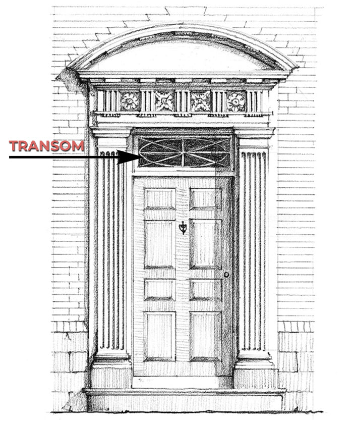 Transom Definition & Illustrated Example - Glossary by Brockwell Incorporated