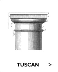 tuscan order capital sketch with gray border from brockwell incorporated