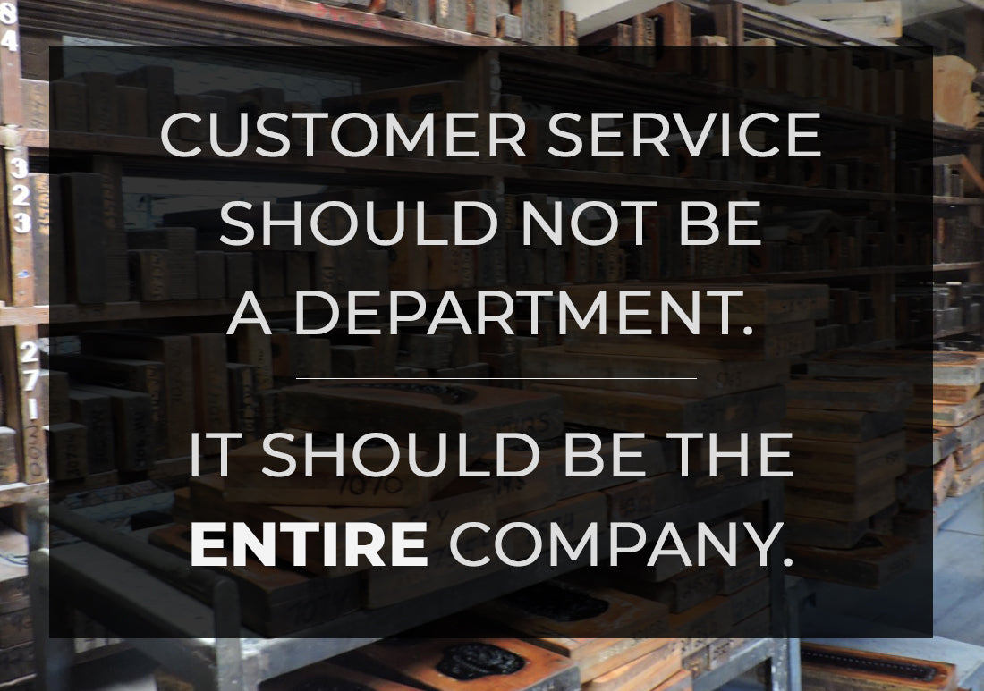 customer service quote with manufacturing warehouse background brockwell incorporated