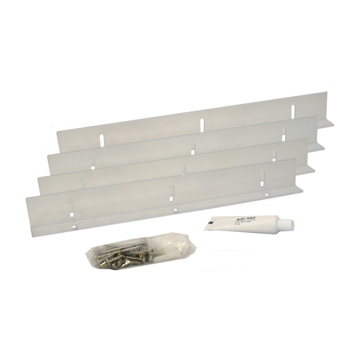 "14"" Fixed Mounting Brackets - (Sold / Set of 4) - Shutter Hardware - [Clear Polycarbonate] - Brockwell Incorporated"