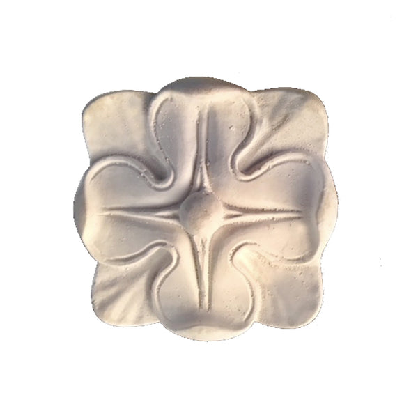 "2-7/8"" (W) x 2-7/8"" (H) x 3/4"" (Relief) - Roman Style Square Medallion - [Plaster Material] - Brockwell Incorporated"