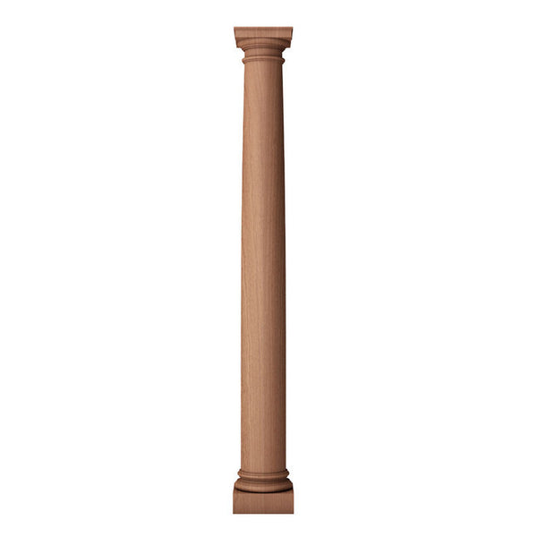 a 4 inch diameter by 3 feet high small plain roman doric wood fireplace column
