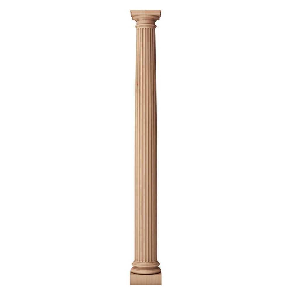 a tapered wood column shaft that is designed for large fireplace mantels