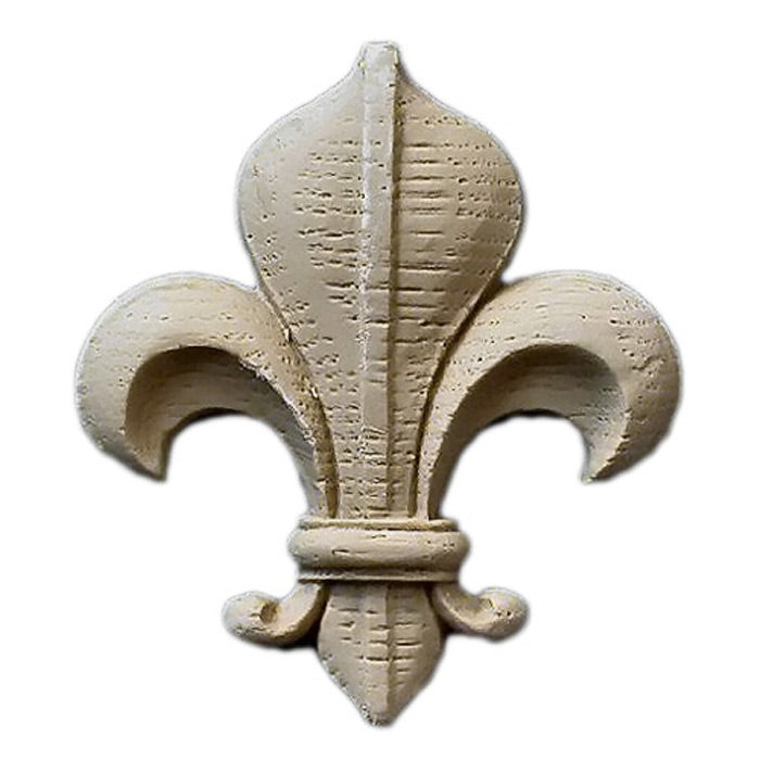 "2-3/8""(W) x 2-5/8""(H) x 5/16""(Relief) - Gothic Fleur de Lis - [Compo Material] - Brockwell Incorporated"