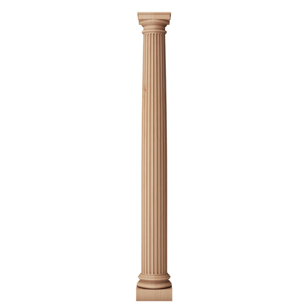 interior solid wood column for fireplaces and has a fluted column shaft from ColumnsDirect.com