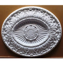 "33-1/8"" (W) x 28"" (H) x 1-5/8"" (Relief) - Italian Oval Ceiling Medallion - [Plaster Material] - Brockwell Incorporated"