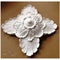 "10"" (W) x 10"" (H) x 3"" (Relief) - Roman Flower Square Rosette - [Plaster Material] - Brockwell Incorporated"