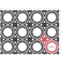 plaster ceiling italian coffered panel design showing black and white drawing of complete ceiling coverage