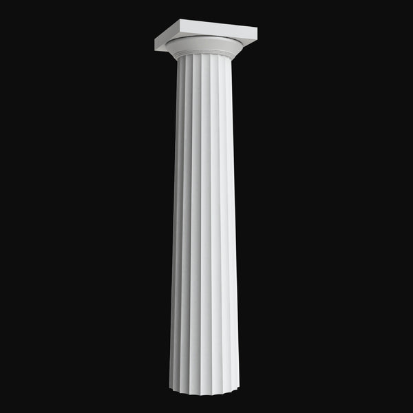 Brockwell Columns - Design #BR-101 Fluted Greek Doric Fiberglass Composite Column Design