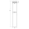 Fiberglass Column Drawing - #BR-104NT - Tuscan, Plain, Round, Non-Tapered Column