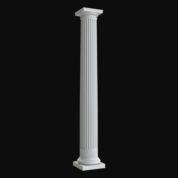 Column Design BR#105 - Fluted, Tapered, Round Tuscan Column by Brockwell Columns