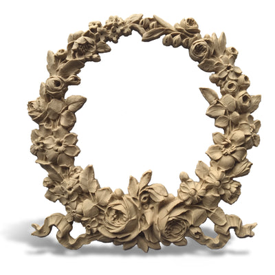Decorative Resin Rose Wreath Applique Online for Wood Furniture