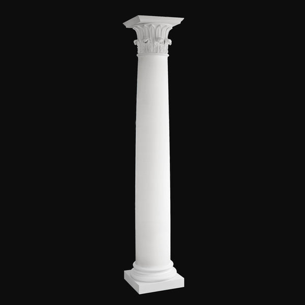 Fiberglass Column Design #BR-150 - Tower of the Winds Plain Round Design from Brockwell Incorporated