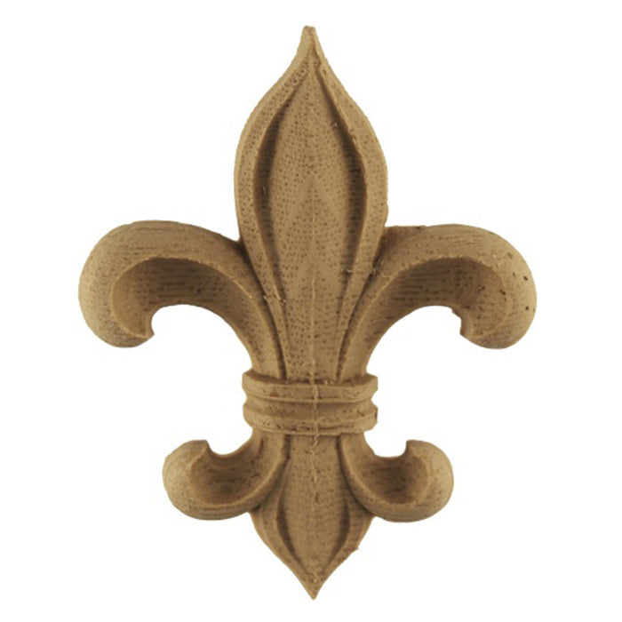 "3-1/8""(W) x 4""(H) x 3/8""(Relief) - Classic Fleur de Lis - [Compo Material] - Brockwell Incorporated"