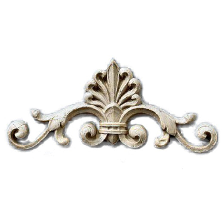 "Brockwell's 5-1/4""(W) x 2-3/8""(H) x 1/2""(Relief) - Interior Applique - Empire Palmette - (EACH) - [Compo Material]- - ColumnsDirect.com"