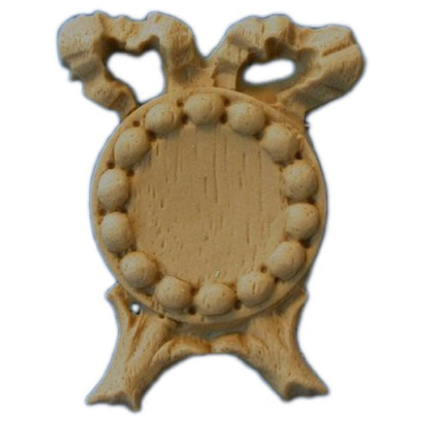 "Brockwell's 1-1/8""(W) x 1-1/2""(H) - Small Medallion Center - Stain-Grade - [Compo Material]- - ColumnsDirect.com"