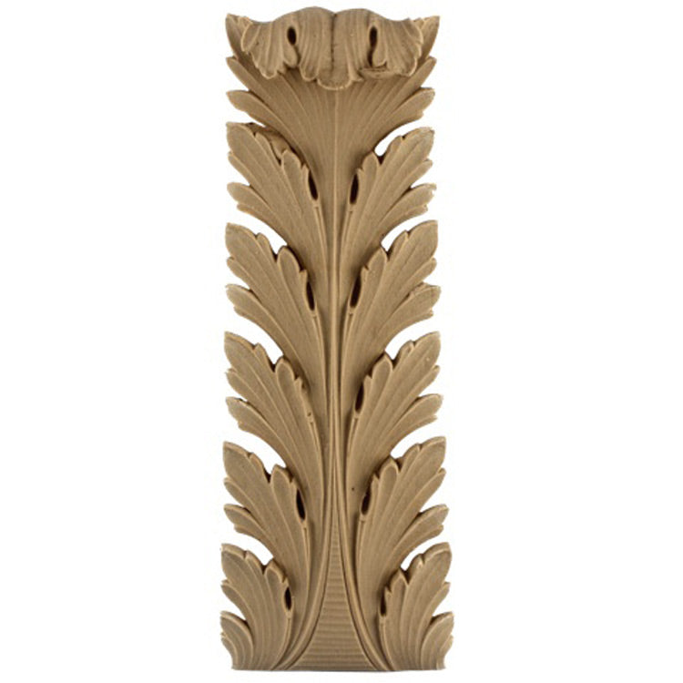"Brockwell's 3-3/4""(W) x 10""(H) x 1-3/8""(Relief) - Stainable Applique - Empire Acanthus Leaf - [Compo Material]- - ColumnsDirect.com"