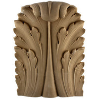 "Brockwell's 8-1/4""(W) x 11-1/2""(H) x 2-5/8""(Relief) - Stainable Applique - Louis XVI Acanthus Leaf - [Compo Material]- - ColumnsDirect.com"