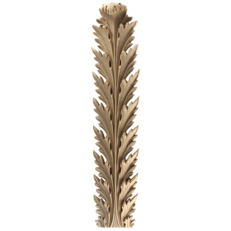 "Brockwell's 3-1/2""(W) x 15-1/2""(H) x 1-1/8""(Relief) - Stainable Applique - Empire Acanthus Leaf - [Compo Material]- - ColumnsDirect.com"