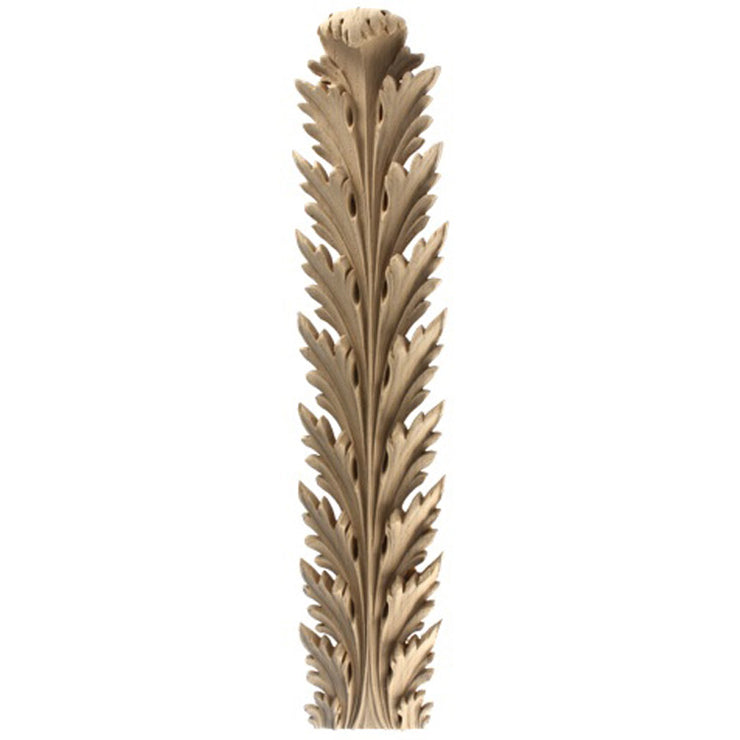 "Brockwell's 2-5/8""(W) x 13-3/4""(H) x 7/8""(Relief) - Stainable Applique - Empire Acanthus Leaf - [Compo Material]- - ColumnsDirect.com"