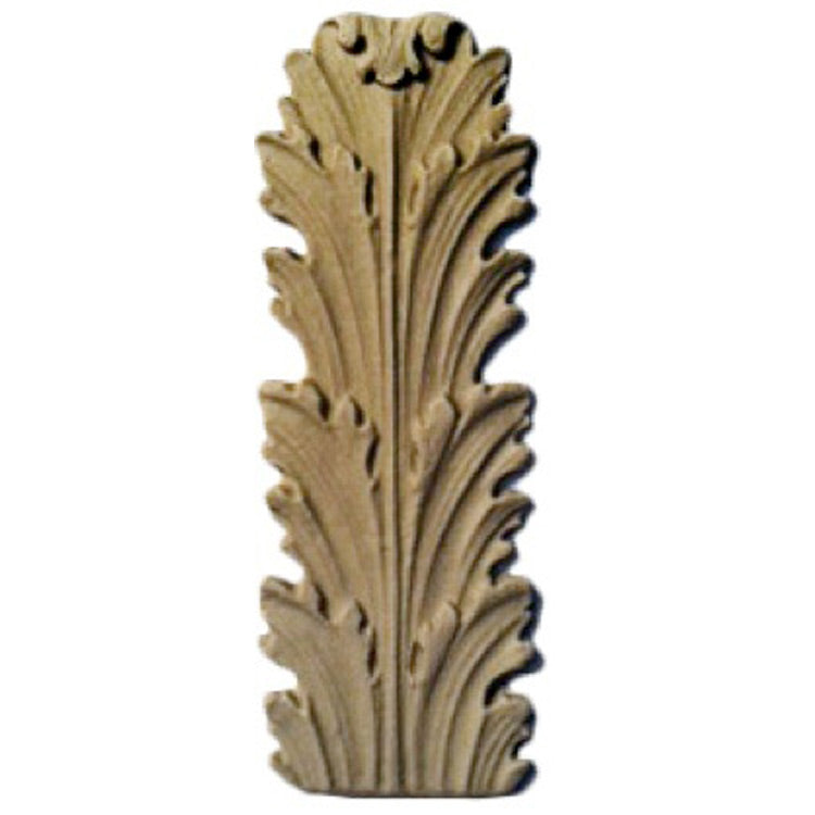 "Brockwell's 1-3/8""(W) x 3-7/8""(H) - Acanthus Leaf - Ornate Applique - (2 PACK) - [Compo Material]- - ColumnsDirect.com"