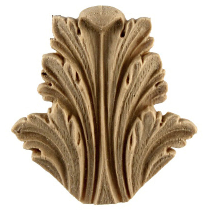 "Brockwell's 1-3/4""(W) x 2""(H) x 3/16""(Relief) - Roman Acanthus Leaf - Ornate Applique - [Compo Material]- - ColumnsDirect.com"
