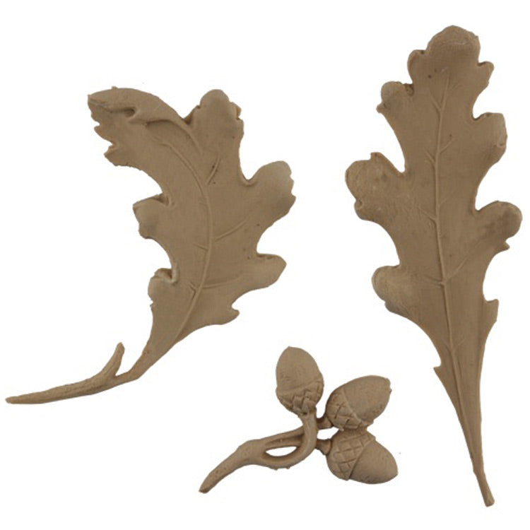 "Brockwell's 5""(W) x 6""(H) x 3/8""(Relief) - Acorns & Oak Leaves - Ornate Applique - [Compo Material]- - ColumnsDirect.com"