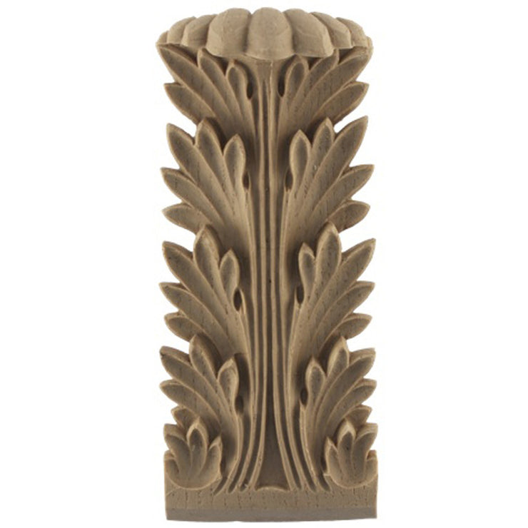 "Brockwell's 2-1/2""(W) x 5-3/8""(H) x 1-1/4""(Relief) - Ornate Applique - Roman Acanthus Leaf - [Compo Material]- - ColumnsDirect.com"