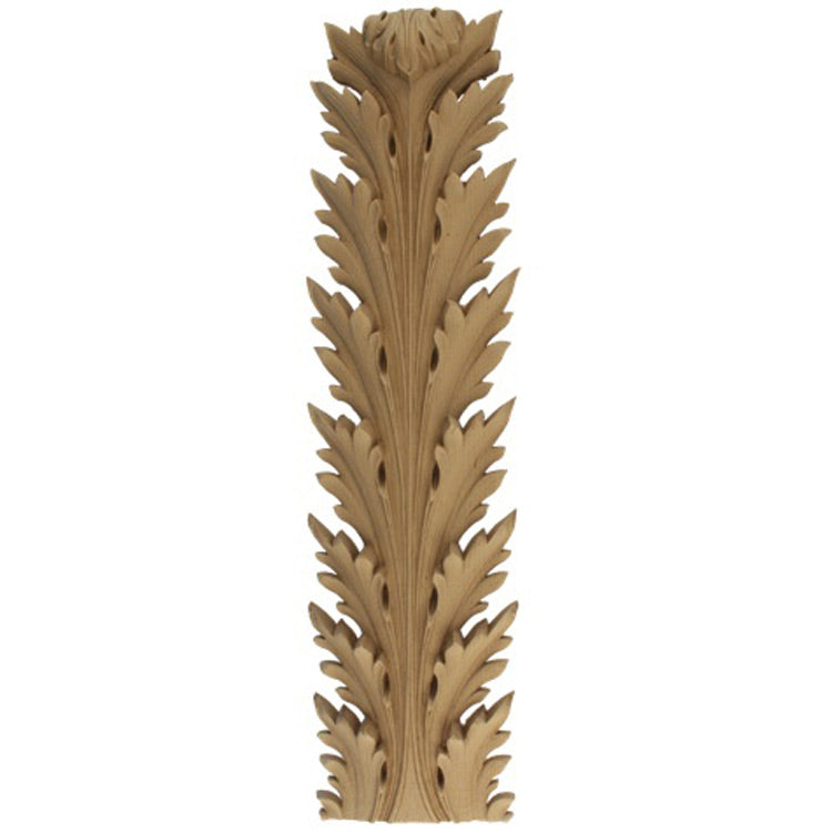 "Brockwell's 1-1/4""(W) x 4""(H) x 1/2""(Relief) - Empire Acanthus Leaf - Ornate Applique - (2 PACK) - [Compo Material]- - ColumnsDirect.com"