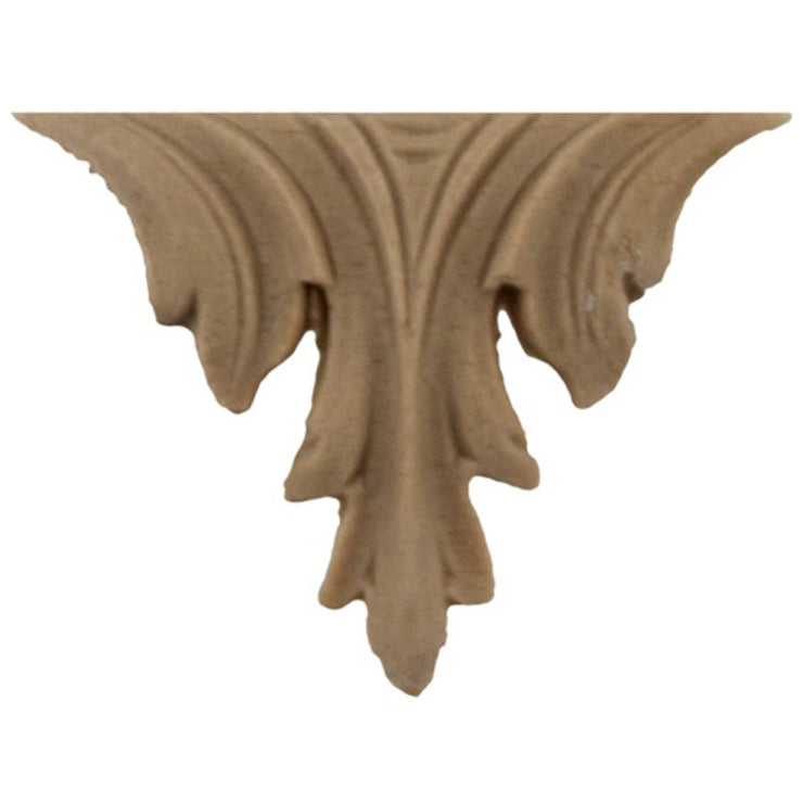 "Brockwell's 1-1/2""(W) x 1-1/4""(H) - Ornate Applique - Decorative Leaf Design - [Compo Material]- - ColumnsDirect.com"